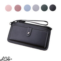 Women Leather Clutch Wallet Zip Long Purse Card Holder Phone Bag Case Handbag