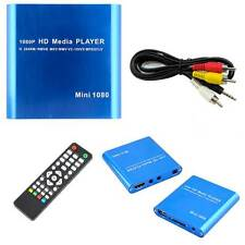 Media box reader lettore multimediale hd player audio video hdmi telecomando