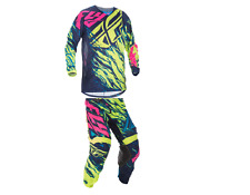 2017 Fly Racing Hi-Vis/Blue/Pink Combo [Jersey(M) Pants (32)]