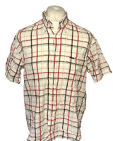 Men's FILA Casual Shirt Multi Check Large Short Sleeve