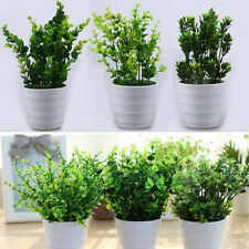 Green Leaves Artificial Plant Pot Eucalyptus Grass Bonsai Home Office Desk Decor