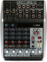 Behringer Xenyx Q802USB 8-Input 2-Bus Analog Mixer 3-Band EQ USB Audio Interface