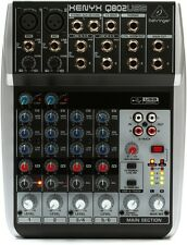Behringer Xenyx Q802USB 8-Input 2-Bus Analog Mixer 3-Band EQ USB Audio Interface