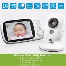 3.2 LCD Funk wireless Babyphone Baby Monitor mit Kamera Nachtsicht Musik Video