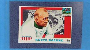 1955 Topps #16 KNUTE ROCKNE All American Notre Dame EXMT Print Dot ~MR25A