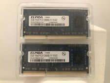 ELPIDA (Apple OEM) 4GB DDR3-1600 Laptop SODIMM RAM 2x2GB PC3 12800 Mac PC