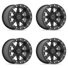 "Hiper 15"" Cheyenne Spec Beadlock Front & Rear Wheels Rims 15X8 4+4 Maverick X3"