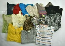 Wholesale Bulk Lot of 14 Womens Large Business Casual Short Sleeve Tops Blouses