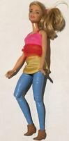 Barbie Doll 2015 Articulated Legs Blonde Blue Jeans Mattel