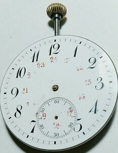 Vintage Movement Fine and Dial Pocket Watch 43mm