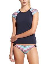 NWT Athleta Moxie Tee Rashguard, Dress Blue, Extra Large (XL), Beach, Swim $59