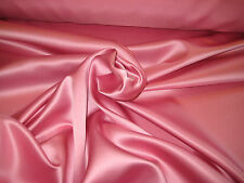 """DAPHNE ROSE 100% POLYESTER LAMOUR/ PEAU DI SOIE SATIN FABRIC 58"""" WIDE BTY"""