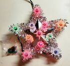 K Mart Trim A Home Star Christmas Tree Topper Silver with Multicolor Lights