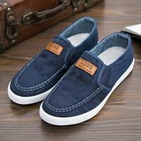 Fashion Men's Canvas Casual Denim Shoes Slip On Loafers Moccasin Outdoor