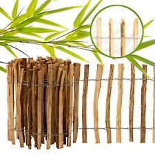 Staketenzaun imprägniert 5m Garten Latten Roll Holz Haselnuss Kastanien Zaun