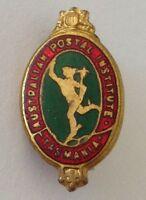 Tasmania Postal Institute Bowling Club Badge Small Rare Vintage Post (M11)