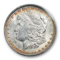 1891 O $1 Morgan Dollar PCGS MS 62+ Uncirculated Attractively Toned Better Date