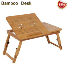 Portable ipad Laptop Notebook Bamboo Computer Desk Bed Tray Stand Foldable Table