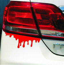 Funny Bleeding Red Blood Drip Zombie Reflective Car Vinyl Decal Sticker 2pcs