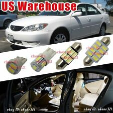 12-pc Deluxe White Car LED Light Interior Package Kit For 2002-2006 Toyota Camry