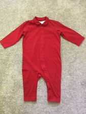 H&M Baby Red Footless Sleepsuit Babygrow Romper Size 9-12 Months