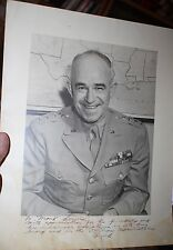 Autographed personalized Photo Gen.Omar Bradley to Gen Henry Balding Lewis WWII
