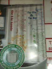 Americana City Maps Peva Vinyl Shower Curtain By Big Apple City By The Sea New