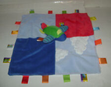 """Taggies Baby Collection Air Plane Jet Security Blanket Lovey Blue Plush 13.5"""""""