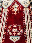 """3'1""""x4""""1 Vintage Architectural Pictorial Wool Hand-knotted Rug"""