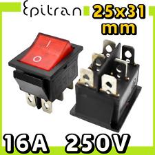 Interruttore bipolare 16A luminoso deviatore a bilanciere rosso da 220V 220 volt