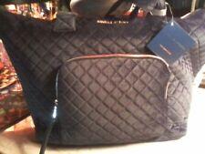 ADRIENNE VITTADINNI Quilted BLACK VELVET Duffle Bag MSRP $380.00 TRAVEL GORGEOUS