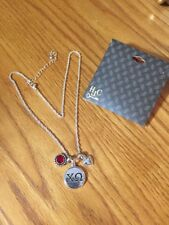 Pendant Necklace Official Licensed Product Sorority Chi Omega Heart Red Stone