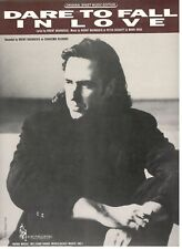 """BRENT BOURGEOIS """"DARE TO FALL IN LOVE"""" SHEET MUSIC-PIANO/VOCAL/GUITAR-RARE-NEW!!"""