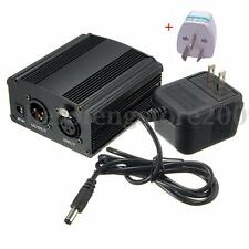 1- Channel 48V Phantom Power Supply for Condenser Microphone + AU Adapter 220V