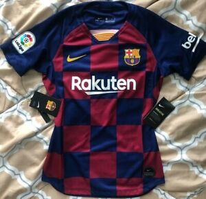 Nike FCB Barcelona Women's Soccer Home 2019/2020 Jersey Slim Fit Size XS