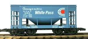 LIONEL # 853 WHITE PASS & YUKON  HOPPER CAR