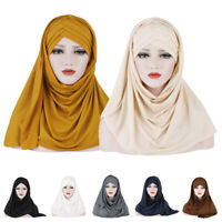 Ladies Scarf Hat Head Wrap Islamic Muslim Hijab Headscarf Women Scarves Headwear