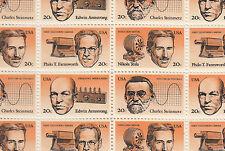 American Inventors Stamp Sheet, Scott #2055-58, Mnh