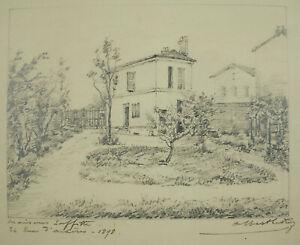 Albert The Roy 1898 Houses-Laffitte Home Of 22 Rue Archères Drawing Original
