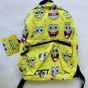 "Spongebob Squarepants Backpack Full Size 16"""