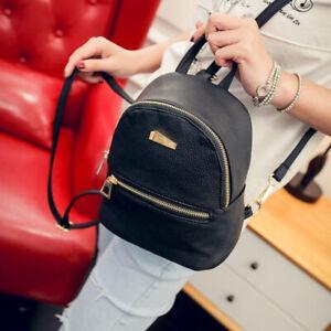 Women Fashion Mini Backpack Small Sweet School Girls Shoulder Bag PU leather Bag