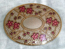 Enamel Flowers/Plants Gold Vintage Costume Jewellery