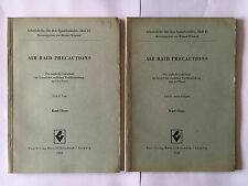 AIR RAID PRECAUTIONS 1942 GUERRE 39 45 2 VOL KARL KLOSS ARMY MILITARY