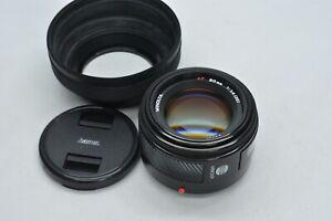 [NEAR MINT Konica Minolta AF 50mm f/1.4 New Prim Lens w/ Hood for Sony A-mount