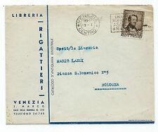 STORIA POSTALE 1948 REPUBBLICA DONIZETTI 15 LIRE SU LETTERA VENEZIA 13/1 D/6088