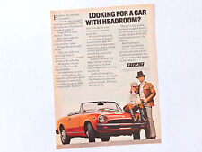 Publicidad FIAT 124 Sport Spider / Advert Reklame Anuncio Pubblicita Pininfarina