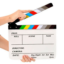 Movie TV Slate Cut Action Scene Clapper Board Dry Erase Clapboard Film Clapboard