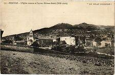 """CPA  """"Le Velay Illustré """" -Beauzac - L'Eglise romane et l'ancien Cháteau(203089)"""