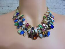 AUTHENTIC J CREW JEWELED ASYMMETRICAL   NECKLACE STATEMENT NWT