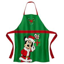 New Disney Parks Santa Mickey Mouse Christmas Holiday Kitchen Adult Apron